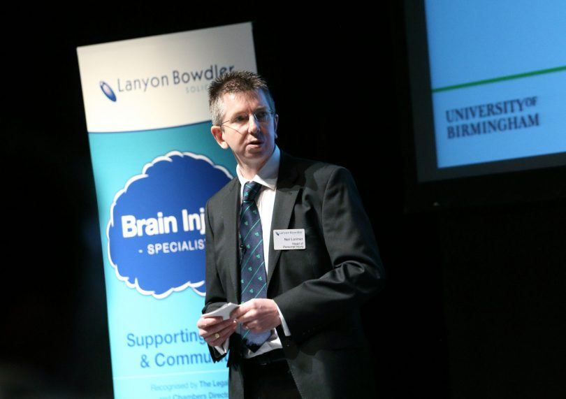 Neil Lorimer, head of the firm's personal injury team and one of the country's leading legal experts in brain injuries