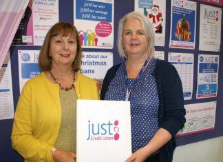 Just Credit Union Chair Pat Buchanan and Chief Officer Karen Farrow