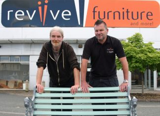 Reviive Commercial Manager, Kevin Diss, with volunteer Derek Murphy