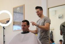 Scott McMahon owner of new Shrewsbury Barbershop - Legion Barbers