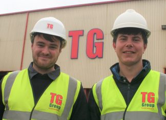Russell Williams and James Bright at TG Group in Ellesmere