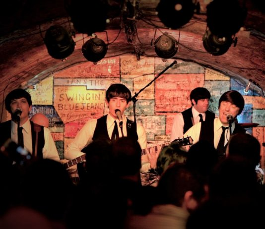 The Mersey Beatles performing live at The Cavern Club