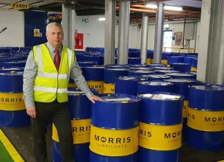 Andrew Morrey, Morris Lubricants' new operations manager