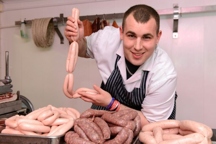 Aran Pearson, part of the G.N Badley & Sons team, who are searching for a sizzling new sausage recipe