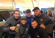 The Volvo team raised £375 for the Zac Oliver charity at Oktoberfest