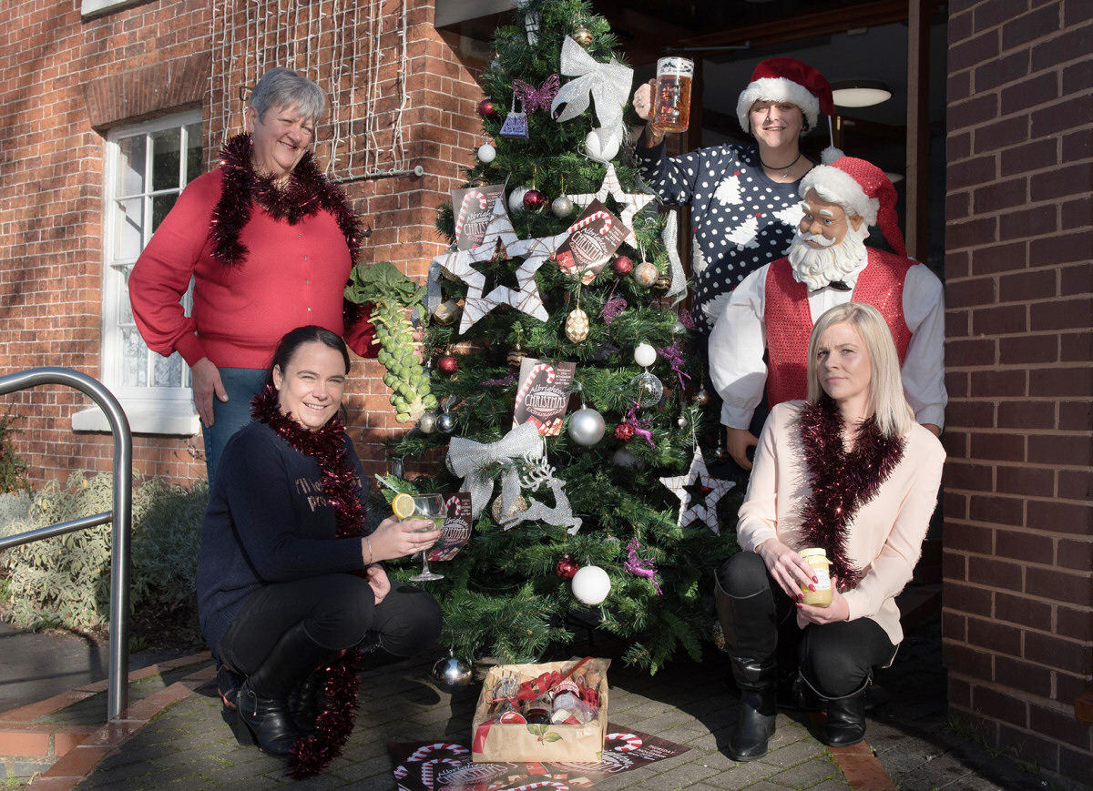 Jane Cartwright, Steph French, Sally Hall and Sarah Holdaway are making sure the festive season gets off to a Santa-inspired start