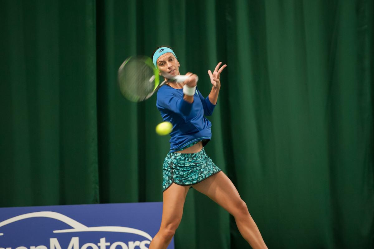 Ana Vrljic from Croatia playing during round one at The Shrewsbury Club. Photo: Richard Dawson Photography