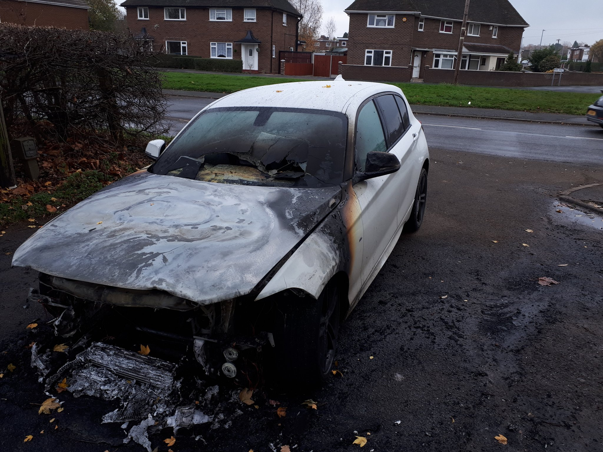 The car fire happened in Donnington last night. Photo: @DonningtonCops