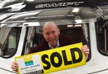 Another caravan sold for Salop Leisure's sales executive George Harris