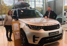 Sarah Belcher, Event Director from Sarah Belcher Events ltd and Oliver Benbow, Head of Business at Hatfields Jaguar Land Rover Shrewsbury