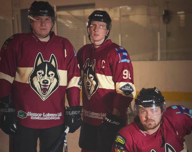 Shropshire Huskies team members Carl Hindley, Jamie Moorhouse and Daniel Gadsden