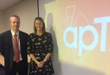 Valerie Hulme and Keith Harris from apT at the event