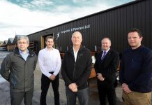 James Bebbington from Morris Property, Kevin Edwards from Carpenter & Paterson Ltd, Ian Carswell from Morris Property, Colin Silk from Silk Sharples Jennings Ltd and Dylan Parker from Morris Property