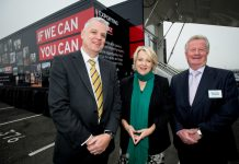 Steve Havins of DiT, guest speaker Jo Fairley and Paul Hinkins, Chairman of the Marches Growth Hub