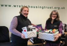 Laura Eales and Jenny Hall of the Trust's Oakengates shop with the collection so far