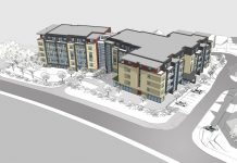 Artist's impression of the redesigned Apley Court retirement apartments