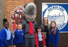 Sid the Shark visits Holmer Lake Primary School