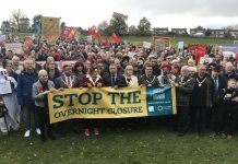 It's estimated that over 3,000 people took part in the march. Photo: @TelfordWrekin