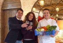 From left, Phil and Susie Godsal, and head chef David Cox