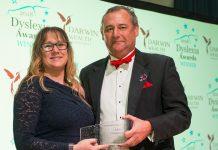 Rebecca Davidson, Project Manager, A&S Landscape with Med Evans, Award sponsor, Darwin Wealth Management