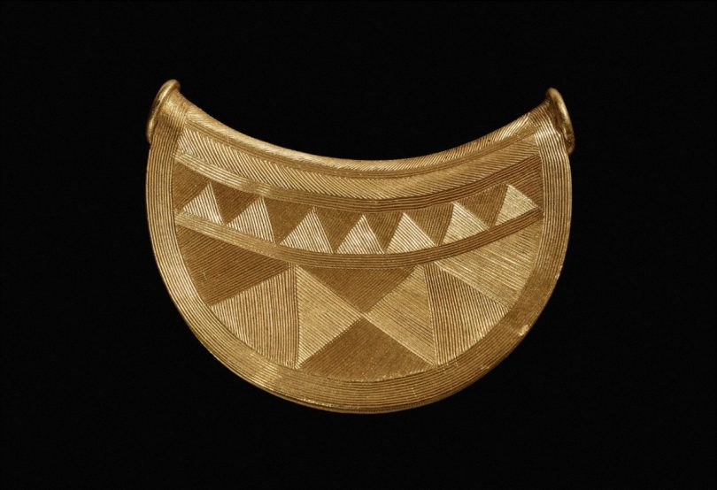 The Bronze Age gold bulla discovered in Shropshire. Photo: British Museum's Portable Antiquities Scheme