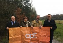 Cllr John Minor, Cllr Rae Evans, Andrew Careless and Chris Hallam from Madeley Parish Council