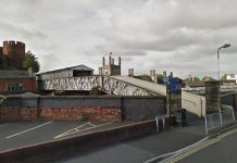Refurbishment work is due to begin on the Dana Footbridge in Shrewsbury. Image: Google Street View