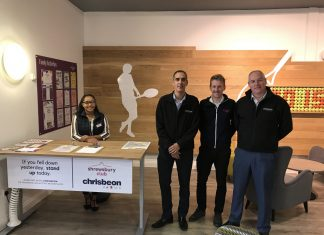 Aimee Anderson with Richard and Craig Hughes, of Chrisbeon and Jon Gidney, of the Shrewsbury Club