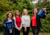 Lingen Davies Fundraising Team Jane Trudgill, Joy Marston and Lizzy Coleman and CEO Naomi Atkin
