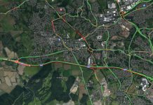 Motorists are facing delays after the M54 was closed at Junction 7 westbound. Image: Google Maps