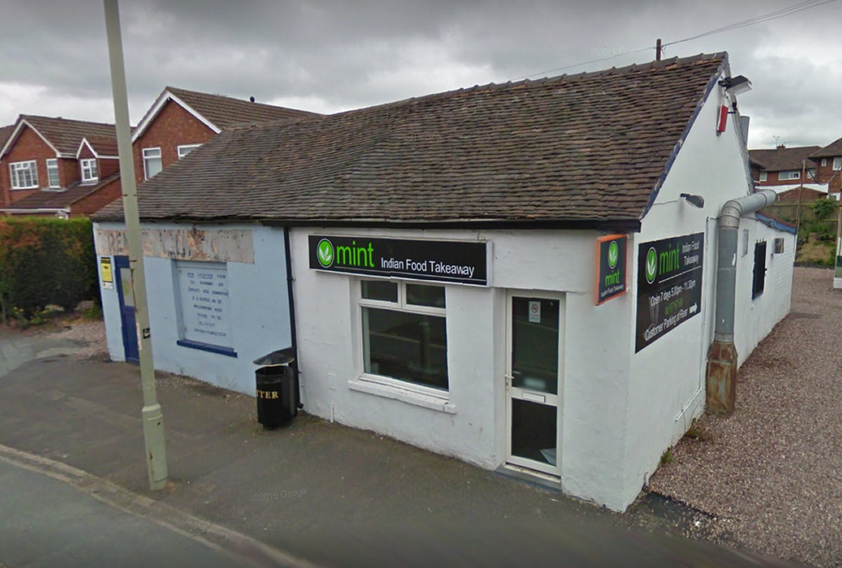 Mint (Telford) Ltd, known as Mint Indian Takeaway has ceased trading since the inspection. Photo: Google Street View