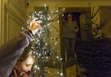 Volunteers get ready for Christmas with the National Trust in SHropshire. Photo: National Trust / Chris Lacy