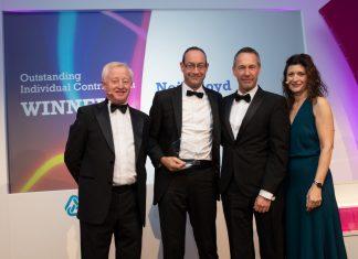 Chris Marston (LawNet), Neil Lloyd (FBC Manby Bowdler), Richard Higgs (Tikit Limited - Sponsors), and Helen Hamilton-Shaw (LawNet)
