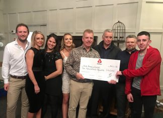 Pave Aways staff have raised £10,000 for the Midlands Air Ambulance in 2018