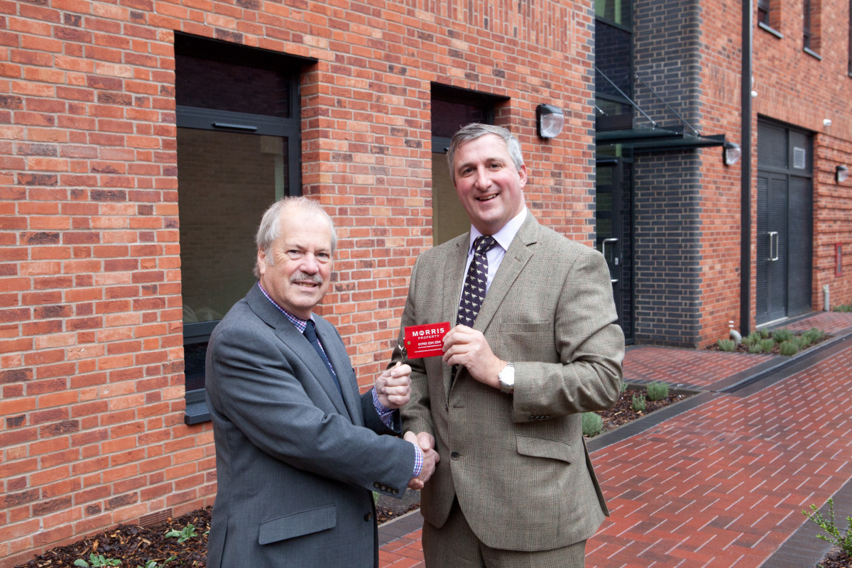Peter Nutting from Shropshire Council and Robin Morris from Morris Property