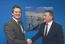 Tim Richards (left) is welcomed to the firm by Nick Jones