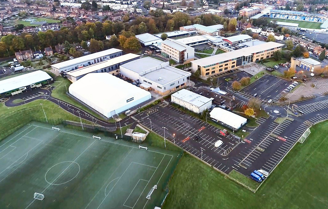 An aerial view of the Haybridge campus, where the new hub will be based