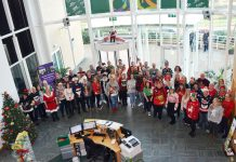 Wrekin Housing Trust staff in their Christmas Jumpers