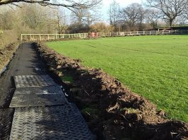 Work is underway on the new running track at Criftins Primary School. Photo: Shropshire Council