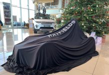Pictured under wraps is the Hatfields Shrewsbury Wacky Races entry