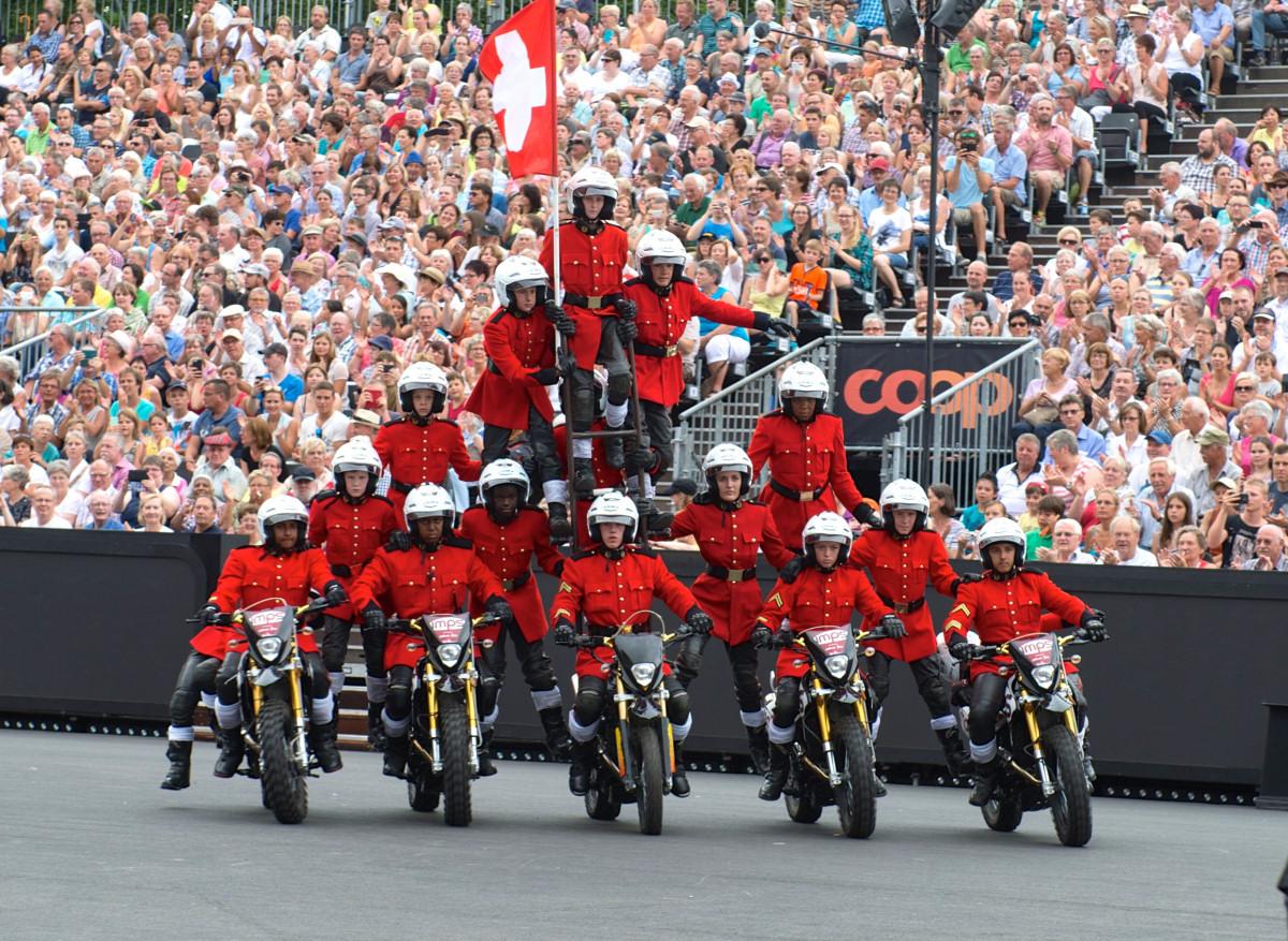 The Imps motorcycle display team