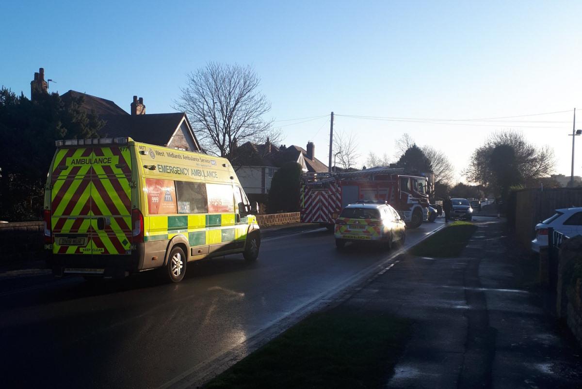 The scene of the collision in Newport. Photo @TelfordPatrol