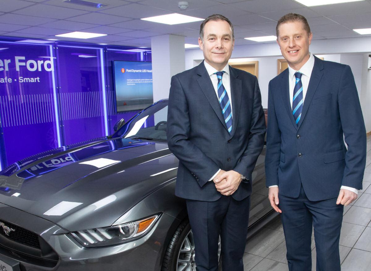 Furrows Managing Director Dave Farthing and Dealer Principal at Shrewsbury, Antony Frost
