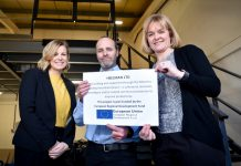 Catherine Bray (Manufacturing Growth Manager), Andy Styles (Heelman) and Caroline Cattle (MBIG Programme Manager)
