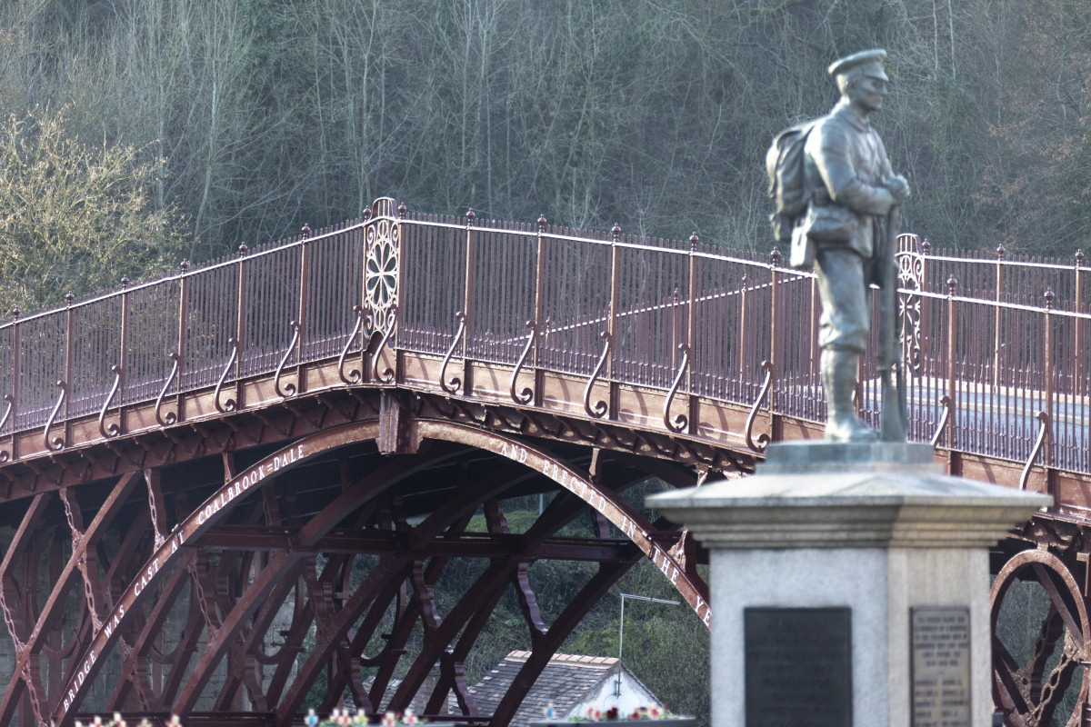 Iron Bridge has been restored to its original red-brown paint colour. Photo: English Heritage