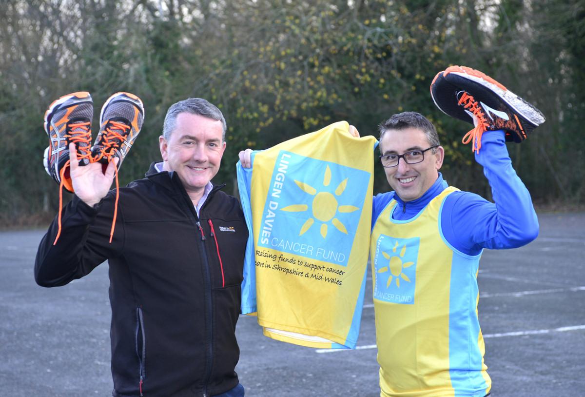 London Marathon fundraisers Nick Jones and Steven Oliver