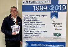 Hedley Corcoran, Managing Director of Midland Computers