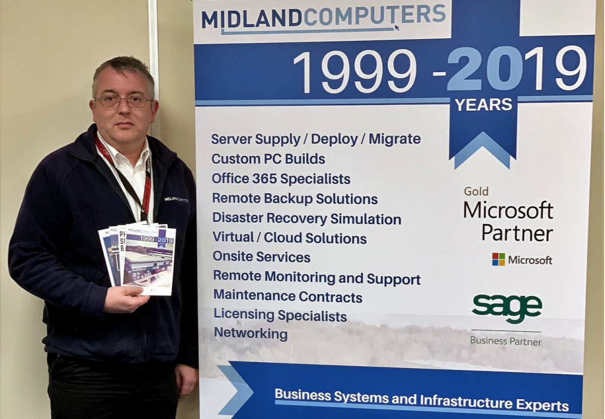 Hedley Corcoran, Managing Director of Midland Computers