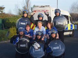 Officers from West Mercia Police will take on the Market Drayton 10k kitted out in police riot gear