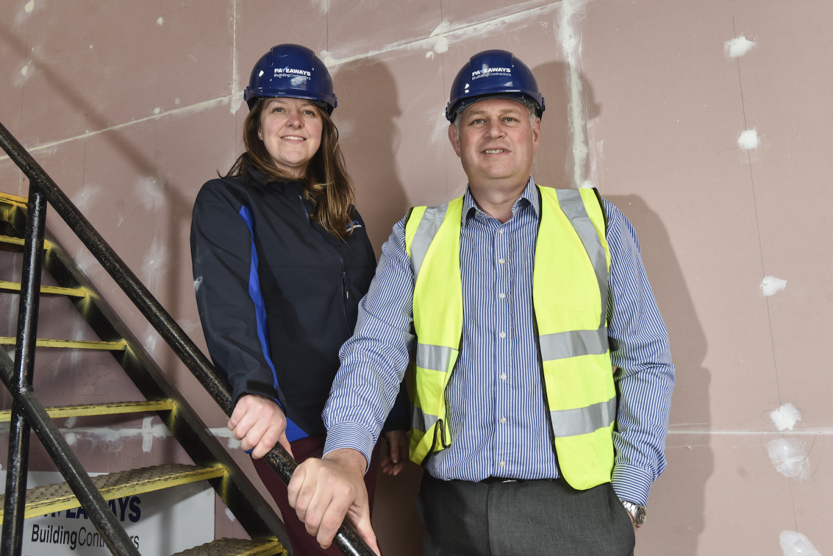 Victoria Lawson, the commercial director at Pave Aways with the company's Managing Director Steven Owen